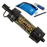 Sawyer Mini Filter Sparsets Wasserfilter für Camping Outdoor Hiking Wandern Sport Fitness (SP107 Camoufalge)